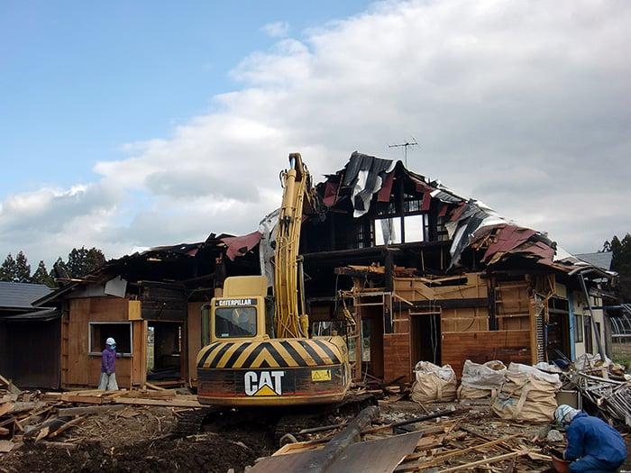 木造家屋解体施工例