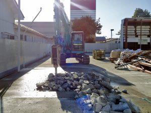 土間解体工事施工例