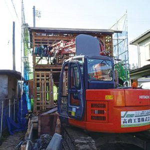 木造家屋解体工事施工例